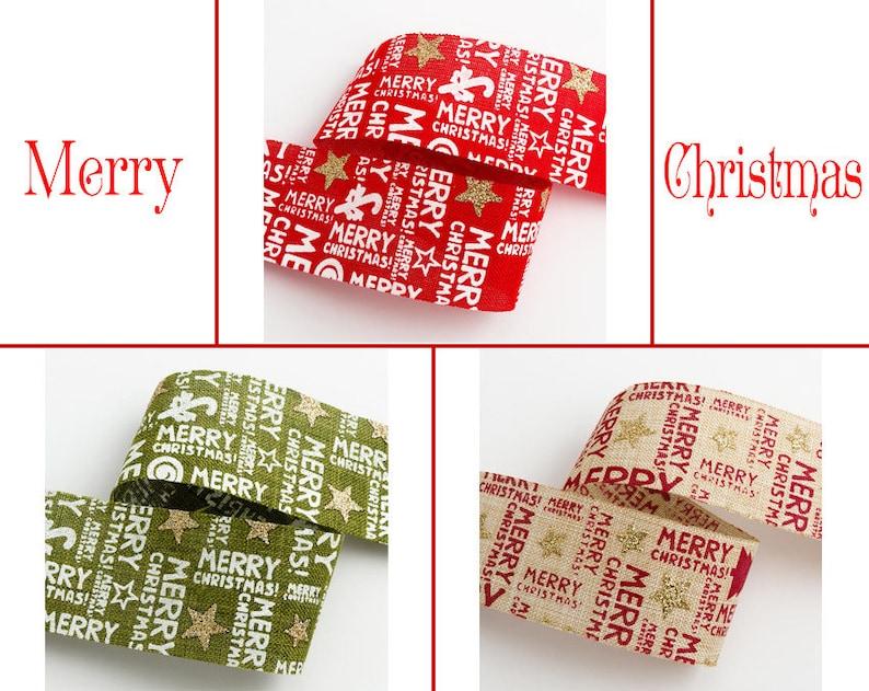 Geschenkband Frohe Weihnachten.Frohe Weihnachten Gedruckt Hessischen Band 38mm Weihnachten Weihnachten Hochzeit Band Weihnachten Geschenkpapier Weihnachten Verzierung