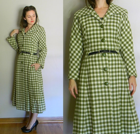 Cyprus Sensation Coat | vintage 40's green plaid w