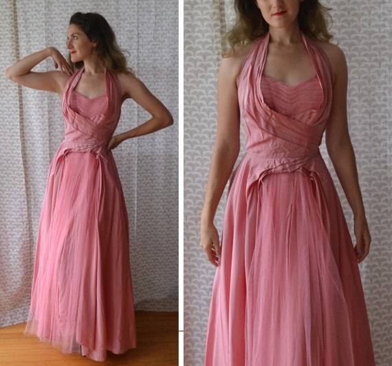 Peony Perfection Dress | vintage pink 50's formal