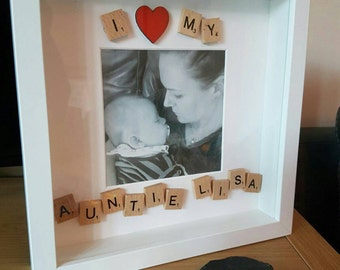 I Love My Auntie Personalised Picture Frame