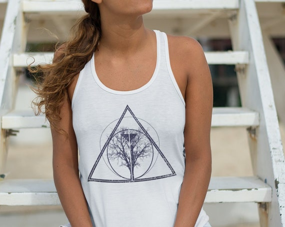 Tree of life / knowledge | Unisex American Apparel Tank Top | Bodhi tree Tank | Geometric design | Graphic Tank | ZuskaArt