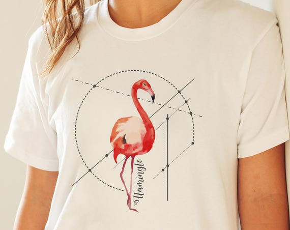 Let's Flamingle | Unisex T-shirt | Men / Women apparel | Personalized T-shirt | Graphic Tee  | Party Tee | Flamingo Art | ZuskaArt
