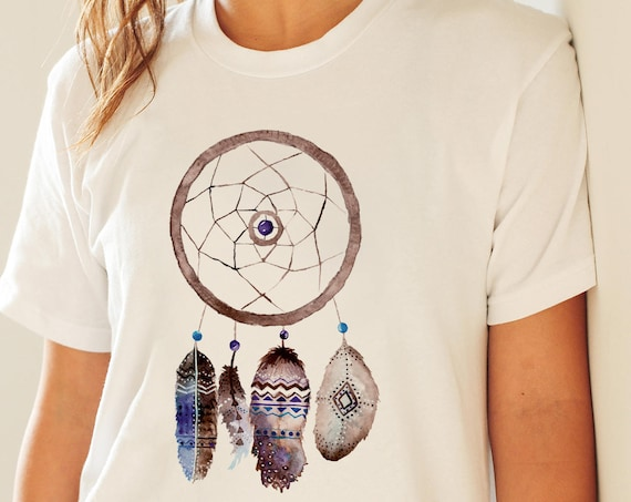 Dreamcatcher Feathers | Unisex T-shirt | Apparel | Women / Men Clothing | Personalized T-shirt | Graphic Tee | Native Art Tee  | ZuskaArt