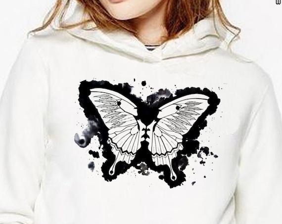 Butterflies in my stomach | Heavy Blend Hooded Sweatshirt | Metamorphosis | Kissing faces | Sacred feathers | Native american art | ZuskaArt