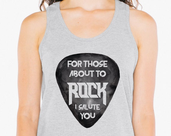 For those about to ROCK! | AC/DC | Unisex American Apparel Tank Top | Rock Tank | Graphic Tank | Rock lyrics | ZuskaArt