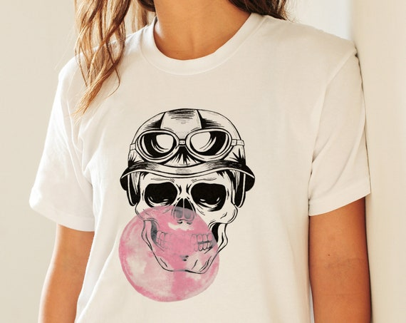 Aviator Skull | Unisex T-shirt | Apparel | Women / Men Clothing | Personalized T-shirt | Halloween Party shirt | Graphic Tee | ZuskaArt