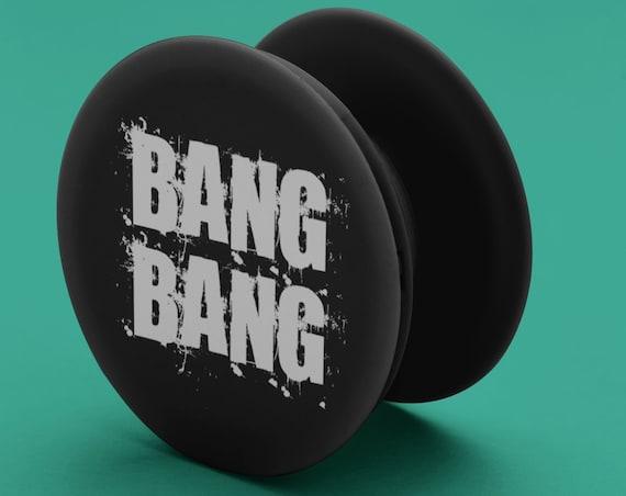 Bang Bang PopSocket Phone Accessory | Tech Christmas Gift | Iphone / Samsung Phone Decal | Funny Pop Socket | Zuska Art