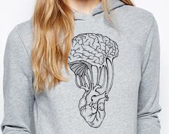 Mind and Spirit | Unisex Heavy Blend Hooded Sweatshirt | Graphic Hoodie | Pen and Ink art | Yoga Sweatshirt | Tattoo Style | ZuskaArt
