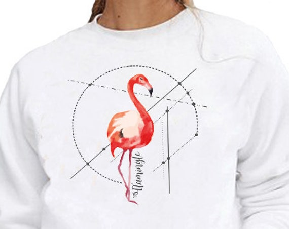 Let's FlaMingle! | Unisex Heavy Blend Crewneck Sweatshirt | Party shirt | Flamingo Art | Graphic Sweatshirt | Pink bird | ZuskaArt
