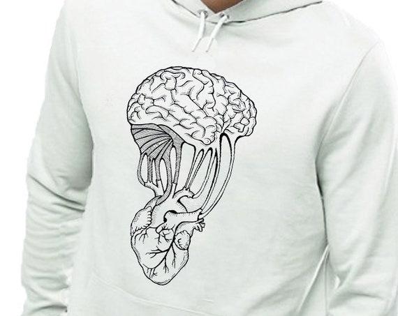 Mind and Spirit   Unisex Heavy Blend Hooded Sweatshirt   Graphic Hoodie   Pen and Ink art   Yoga Sweatshirt   Tattoo Style   ZuskaArt