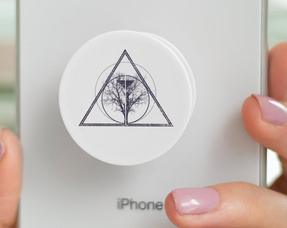Tree of life / knowledge | Bodhi tree  PopSocket Phone Accessory | Tech Christmas Gift | Iphone / Samsung Phone Decal | Geometric design