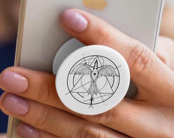 Phoenix ascending | Third eye of Horus PopSocket Phone Accessory | Tech Christmas Gift | Iphone / Samsung Phone Decal |  Sacred Geometry