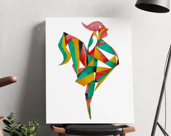 Rooster | artwork | art prints | canvas art | framed art | art posters | watercolor art | giclee prints  | wall art | rooster art | bird art