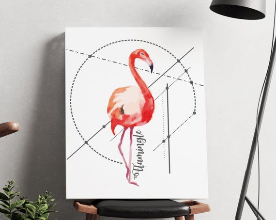 Let's Flamingle!  | artwork | art prints | canvas art | framed art | art posters | watercolor art | giclee prints  | wall art | flamingo art