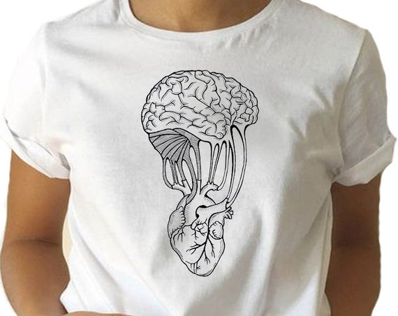 Mind and Spirit | Heart and brain | Unisex T-shirt | Women / Men Clothing | Personalized T-shirt | Apparel | Graphic Tee | ZuskaArt