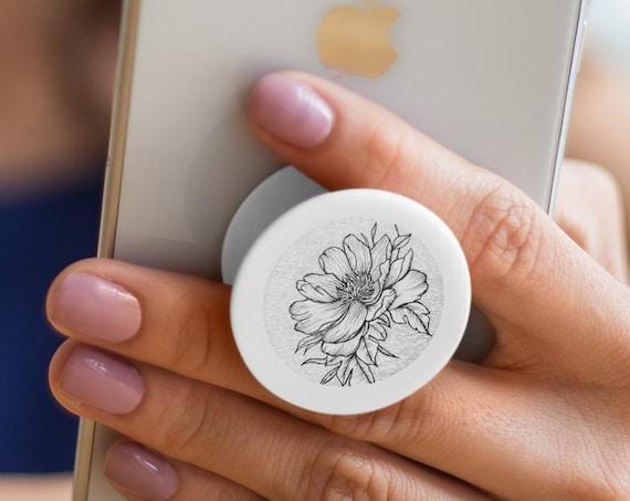 Sakura Cherry Flower Blossom PopSocket Phone Accessory | Tech Christmas Gift | Iphone / Samsung Phone Decal | Cherry tree tattoo Pop Socket