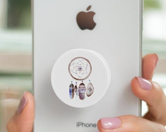 Sacred Feathers Dreamcatcher  PopSocket Phone Accessory | Tech Christmas Gift | Iphone / Samsung Phone Decal | Native Pop Socket | Zuska Art
