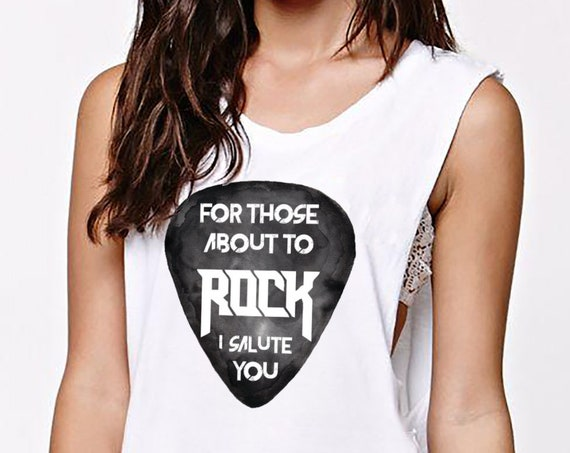 For those about to ROCK! | AC/DC | Women Sexy and Flowy Muscle Tank Top | Personalized Graphic Tank | Rock music | ZuskaArt