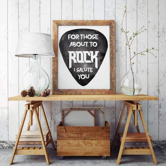 Admirable For Those About To Rock Ac Dc Paper Poster Rock Music Art Black And White Wall Art Watercolor Dorm Room Wall Decor Zuskaart Pabps2019 Chair Design Images Pabps2019Com