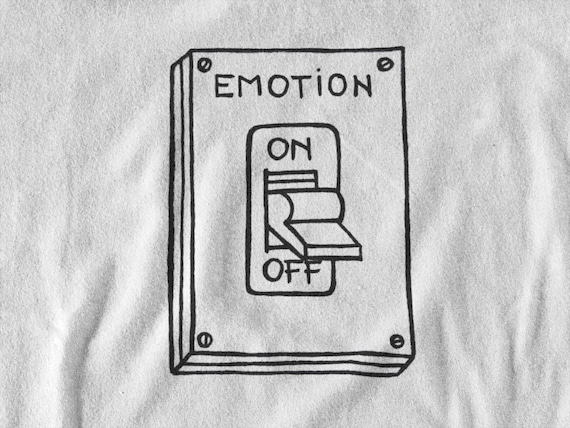 Emotion ON/OFF switch | Minimalist hip design | T-shirt | Hoodie | Sweatshirt | Ink tattoo | Simple Art | Logo graphic | ZuskaArt