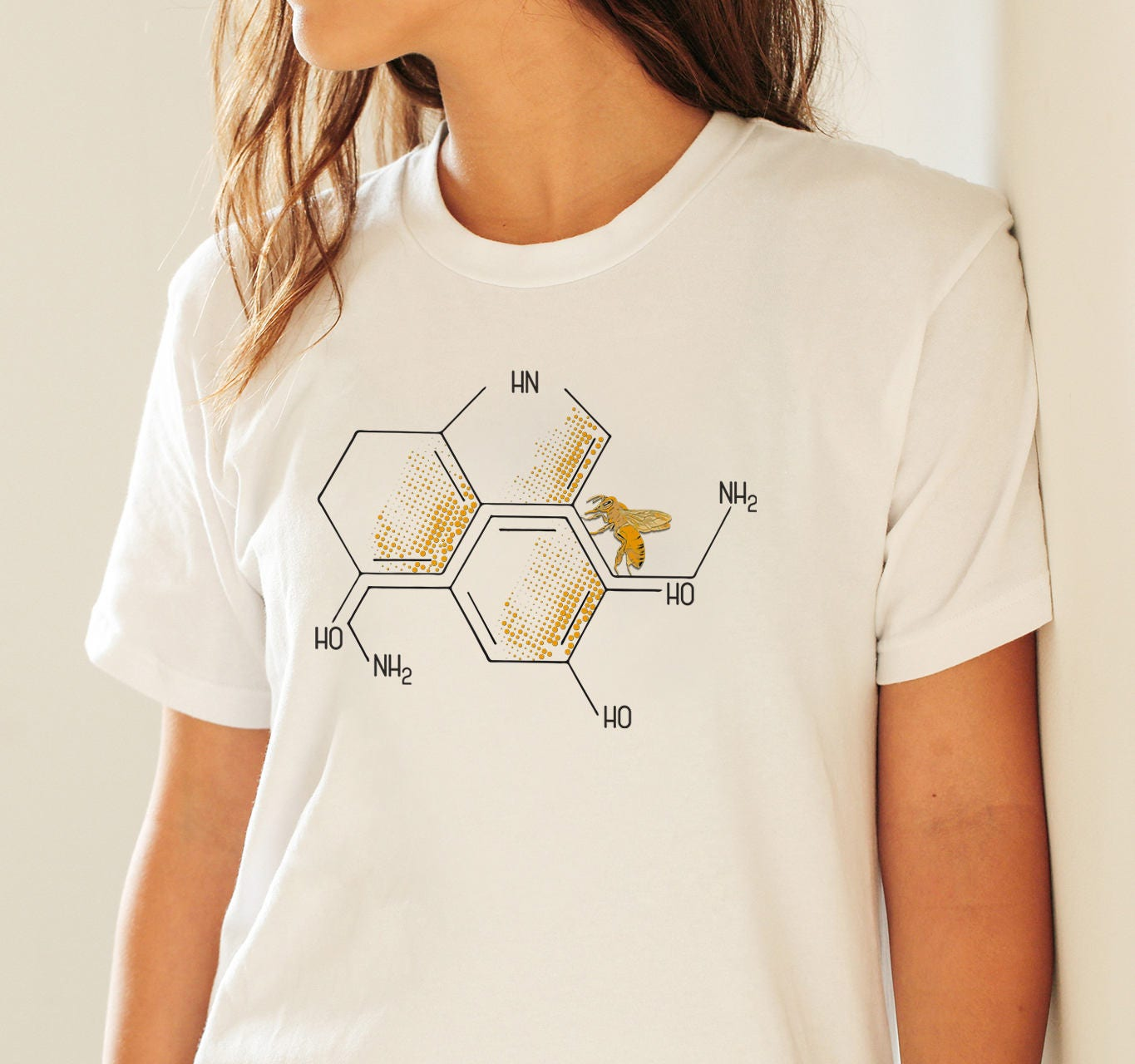 ae8ac0527 Nectar of life | Serotonin and dopamine chemical formulas | Unisex T ...