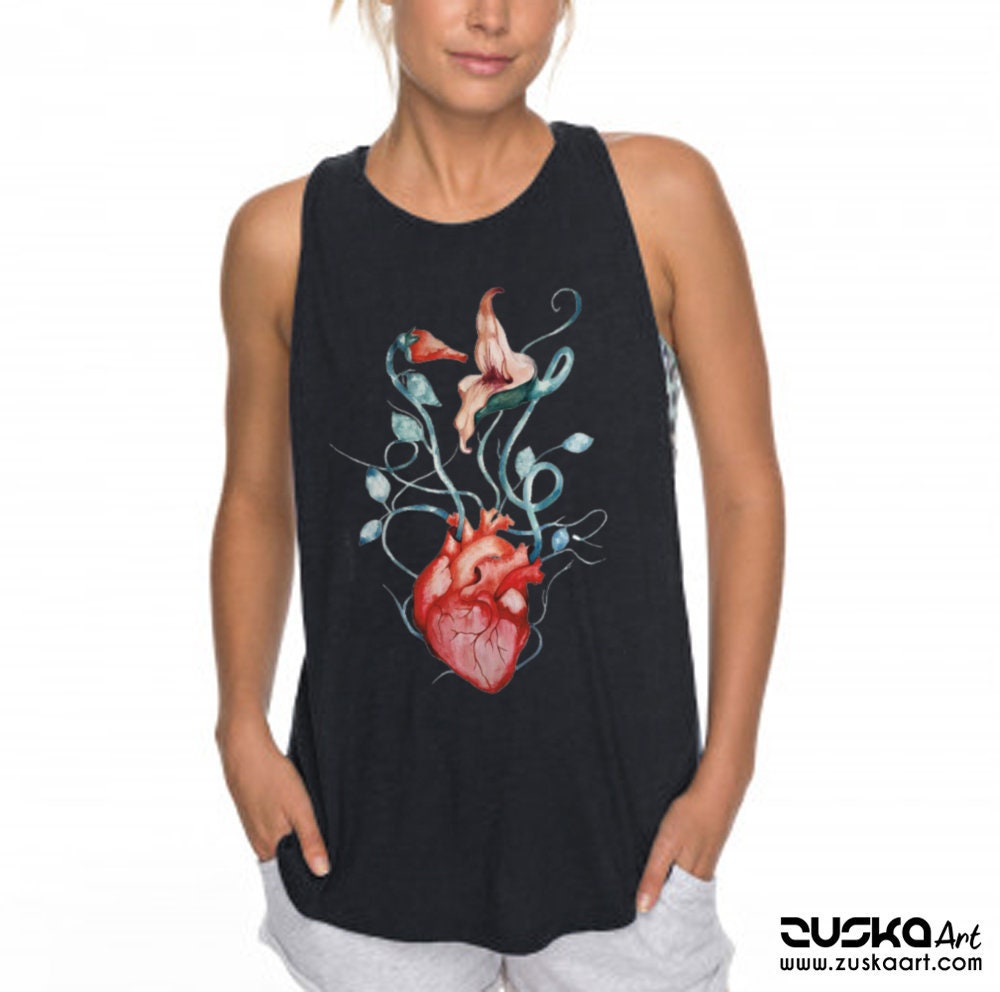Pink Floyd The Wall Love Flowers Women Sexy And Flowy Muscle Tank