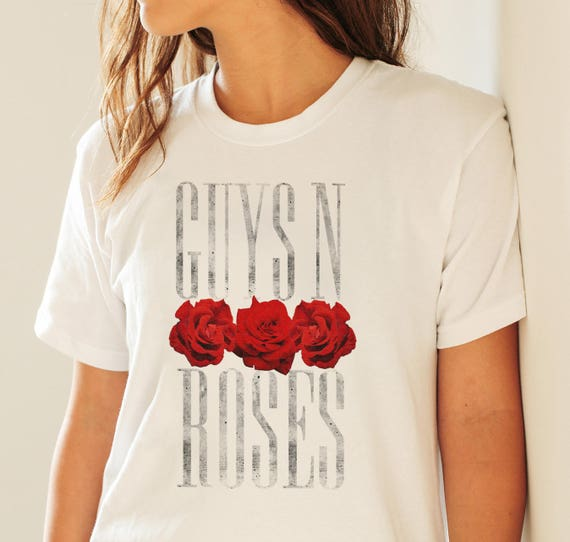 Guys 'N Roses / Guns 'N Roses pun | Unisex T-shirt | Apparel | Women / Men Clothing | Personalized T-shirt | Graphic Tee | Gay pride