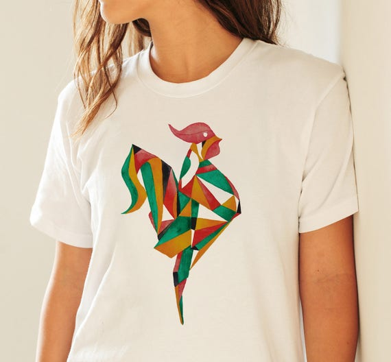 Origami Rooster | Unisex T-shirt | Apparel | Women / Men Clothing | Personalized T-shirt | Graphic Tee  | Gift for him| Batchelor | ZuskaArt