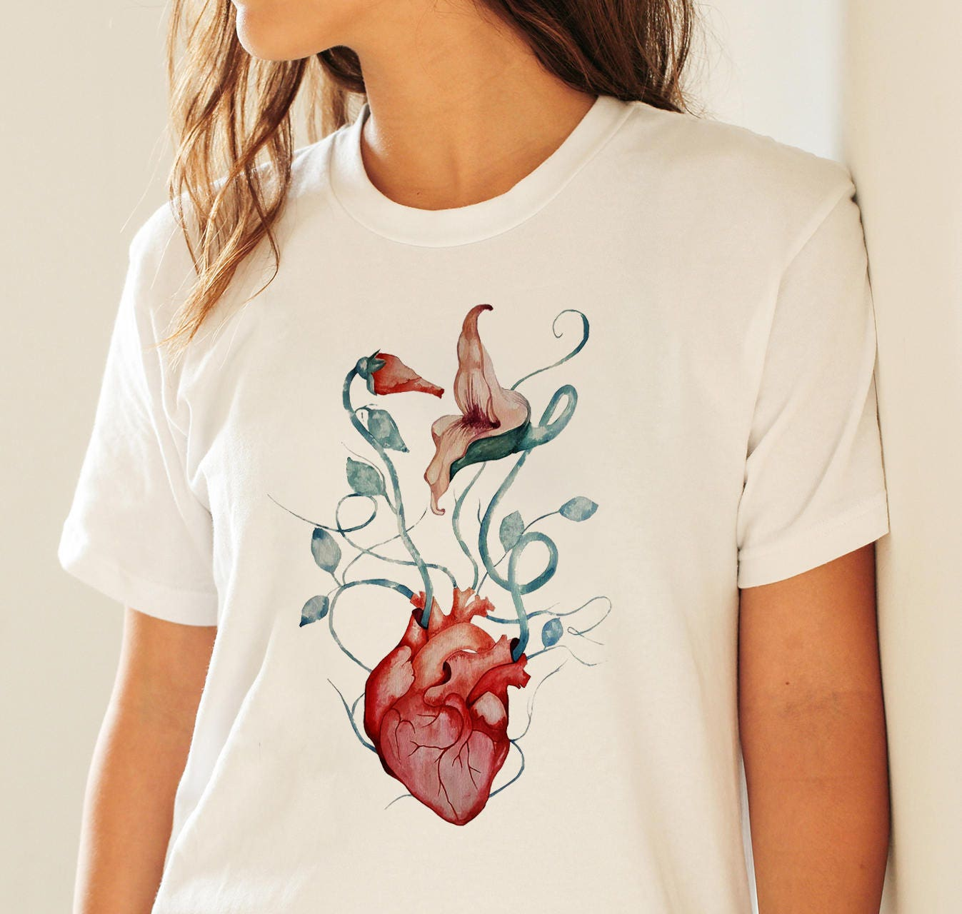 Pink floyd the wall flowers unisex t shirt rock music shirt pink floyd the wall flowers unisex t shirt rock music shirt anatomical heart psychedelic art graphic tee zuskaart mightylinksfo