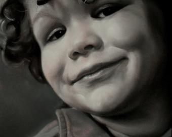 custom portrait,pastel portrait,picture from photo, child portrait