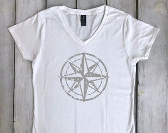 Distressed Compass Rose Shirt