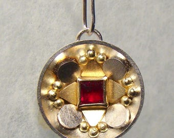 Silver and Gold Ruby Pendant