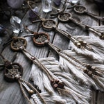 Mini Dream Catchers 'TAURIAN SPIRITS' ※ Natural Wood, Macrame Feathers Bohemian Wall Hanging ※
