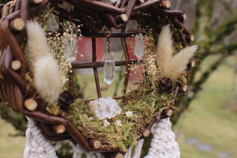 Natures Love  Heart Basket Preserved Flowers Clear Quartz image 0