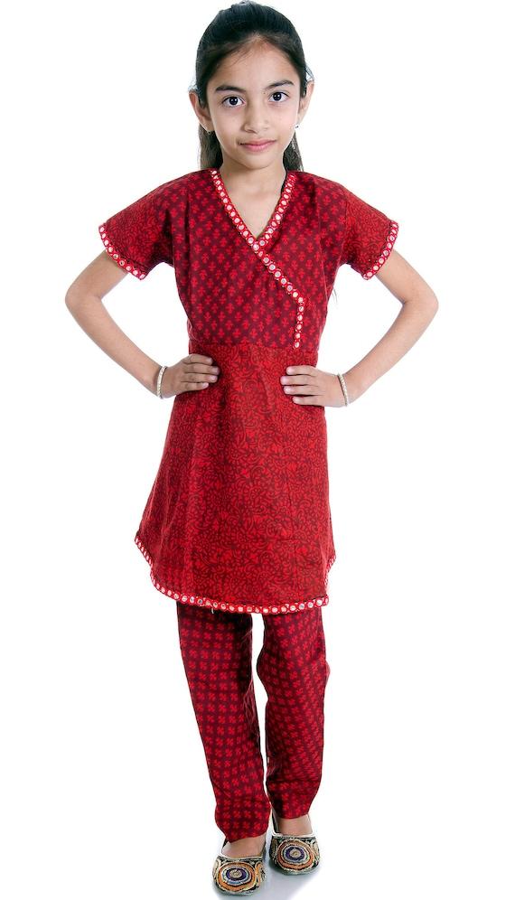 97d769d4c7e84 Girls Ethnic Wear Kids Anarkali Suit Indian anarkali Dress   Etsy