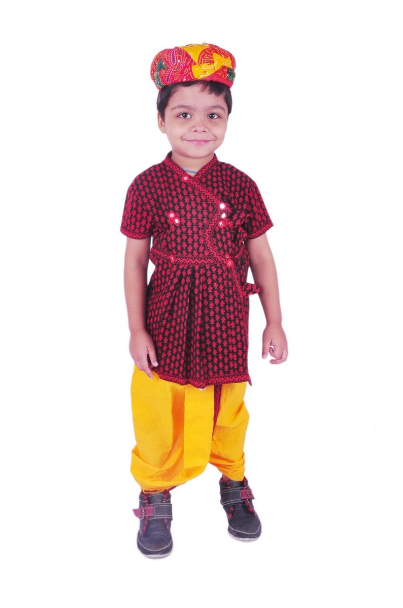ef78209e3 Boy's Dhoti Kurta & Turban Indian Traditional Ethnic | Etsy