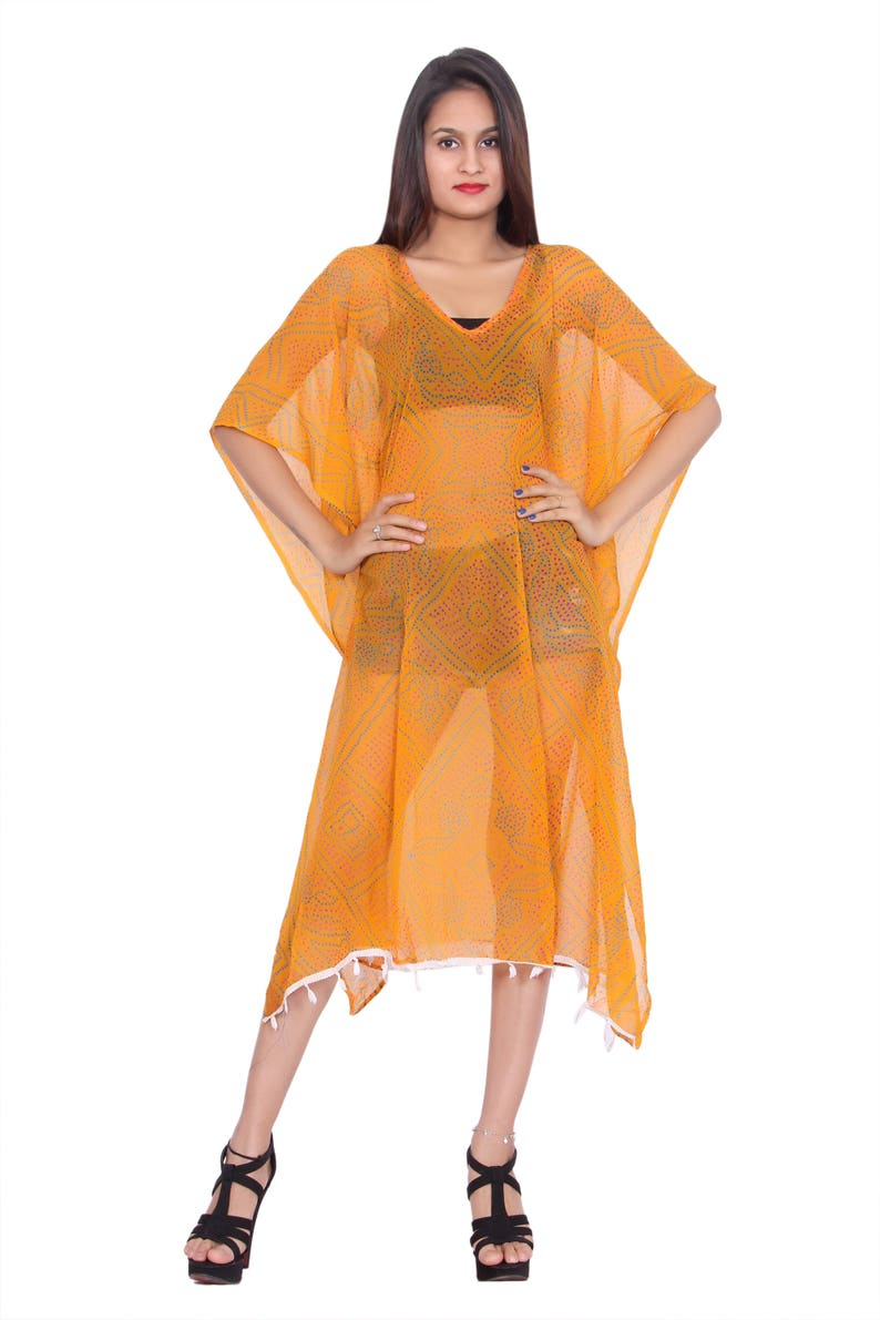 9d2795de3b23 Bondage Print embellished caftan dress Yellow Caftan maxi | Etsy