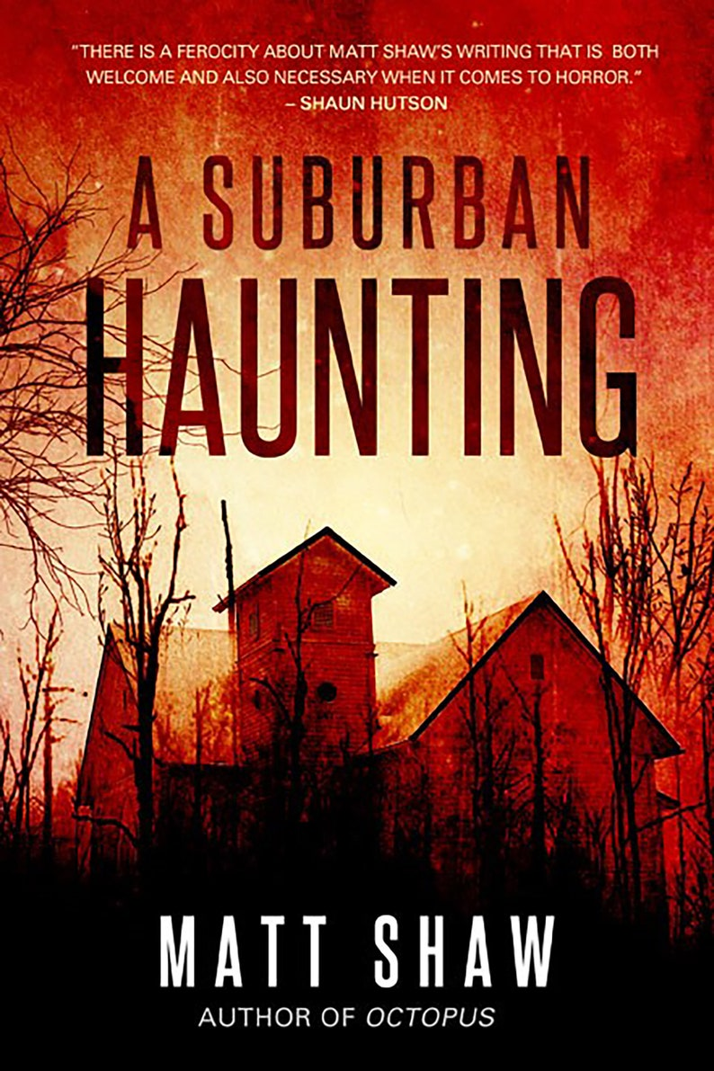 A Suburban Haunting  SIGNED PAPERBACK image 0
