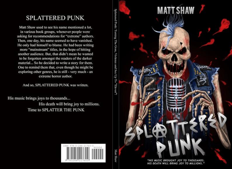 Splattered Punk  paperback signed image 0