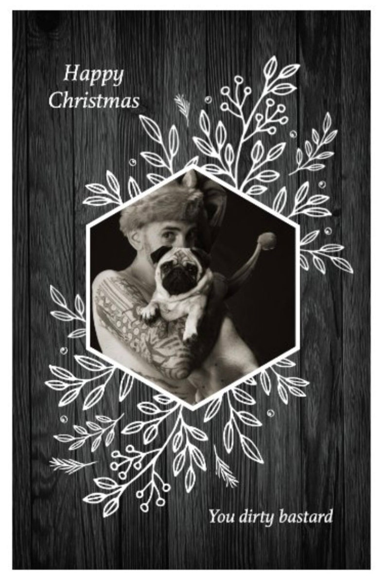 Christmas card signed with personalised note image 0