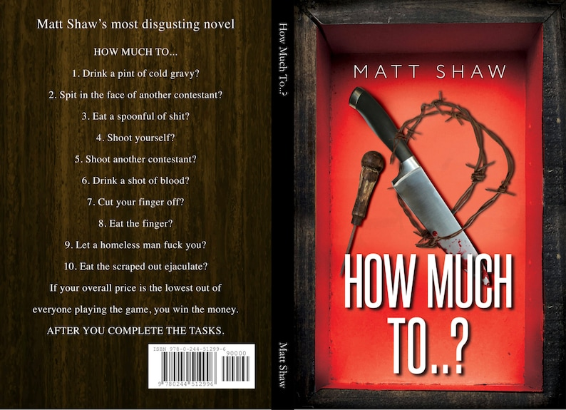 How Much To..  SIGNED PAPERBACK extreme horror image 0