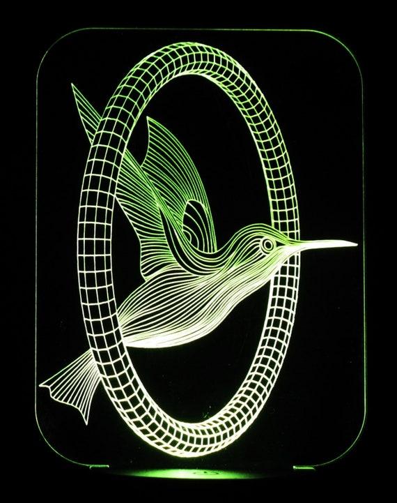 Night Lamp Hummingbird 3-D Optical Illusion LED Desk Table