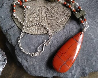 Jasper & Pyrite Necklace