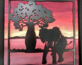 Baobab wall art | Etsy