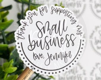 Personalized Small Business Sticker©, Thank You Sticker, Small Shop Sticker, Small Business, Packaging Sticker, Etsy Sticker