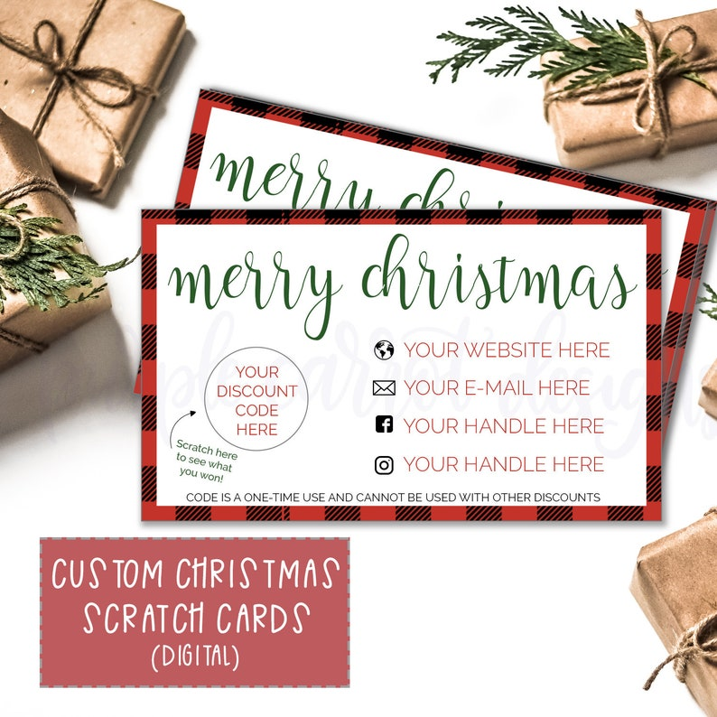 Christmas Themed Scratch Card, Digital File, Print at Home Card, DIY  Scratch Card, Scratch Off Card, Scratch and Win, Discount Card