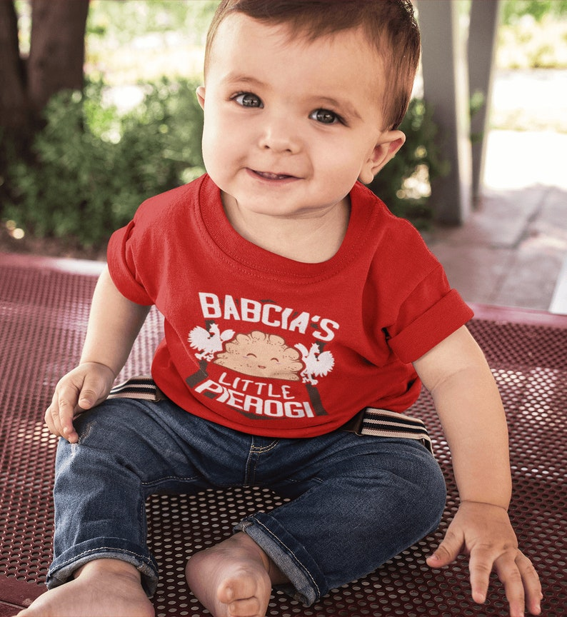 Baby Gift Polish Gifts for Babcia Babcia/'s Little Pierogi Infant Baby Shirt