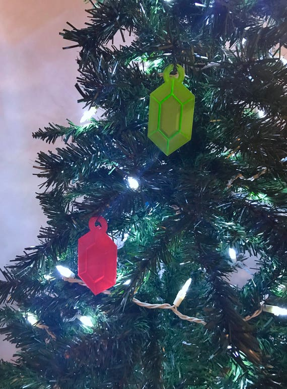 Geek Christmas Ornaments.Legend Of Zelda Rupee Christmas Ornament 3d Printed Christmas Ornament Geek Christmas Ornament