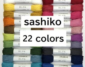 Sashiko thread 85 m -plain colors- high quality cotton- find your favorite !!