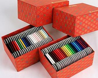 Silk hand stitching thread 40 m 25 color set -ORIZURU-Choose either box you prefer